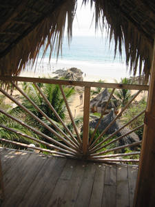 The beach as seen from one of our huts