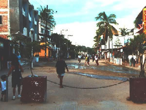 Pedestrian aera in Puerto Escondido